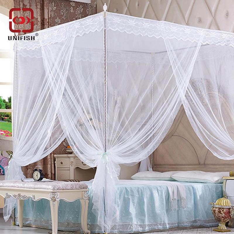 Aliexpress Com Buy 3 Door 4 Corner Post Bed Canopy