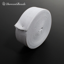 Polyester Elastic Band White For Clothing Elastic Cord 4cm(1 5/8