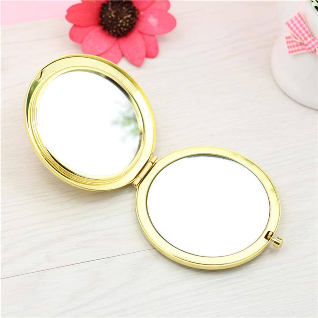 Hohe Qualität Aushöhlen Doppel Seite Faltbare Kleine Kosmetische Make-up Spiegel Muster Zufällig In Vielen Stilen Haut Pflege Werkzeuge