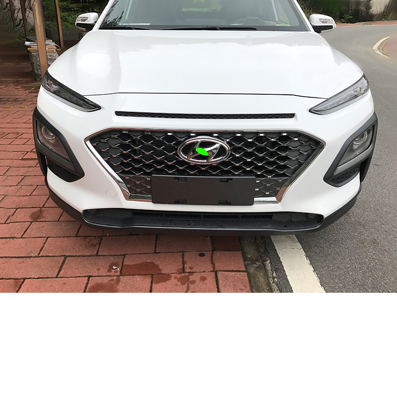 Lsrtw2017 Abs Car Front Grill Logo Ring Trims For Hyundai Encino Kona 2018  2019 2020 Car Accessories Ssticker
