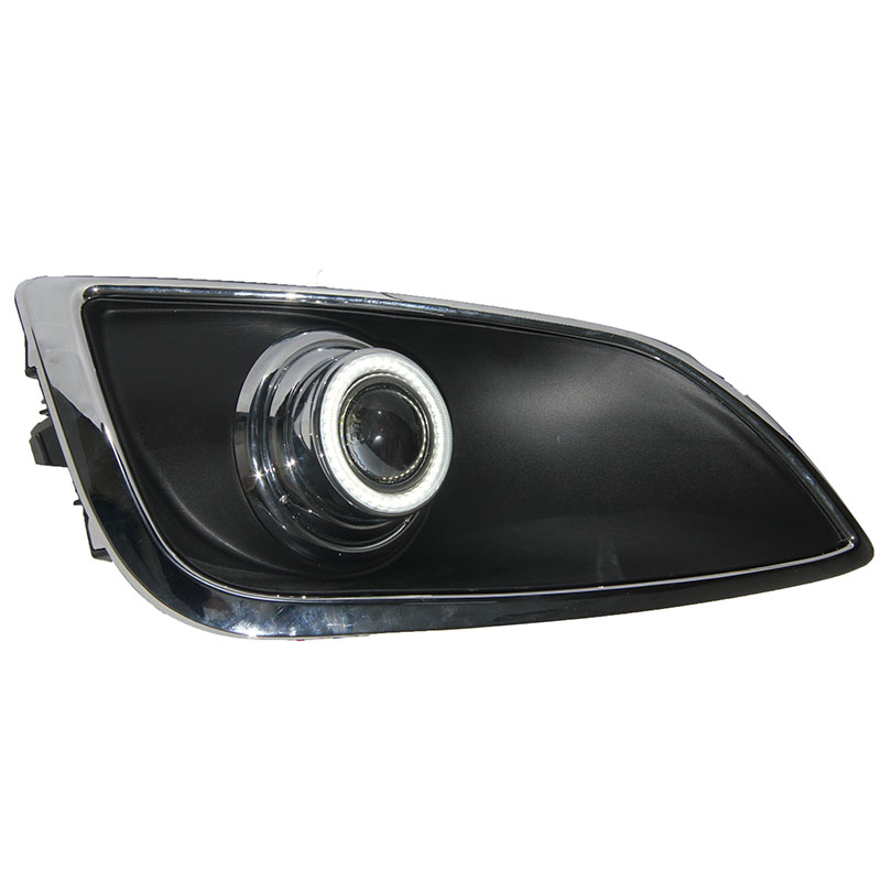 цены eOsuns Innovative COB angel eye led daytime running light DRL + halogen Fog Light + Projector Lens for Hyundai IX35