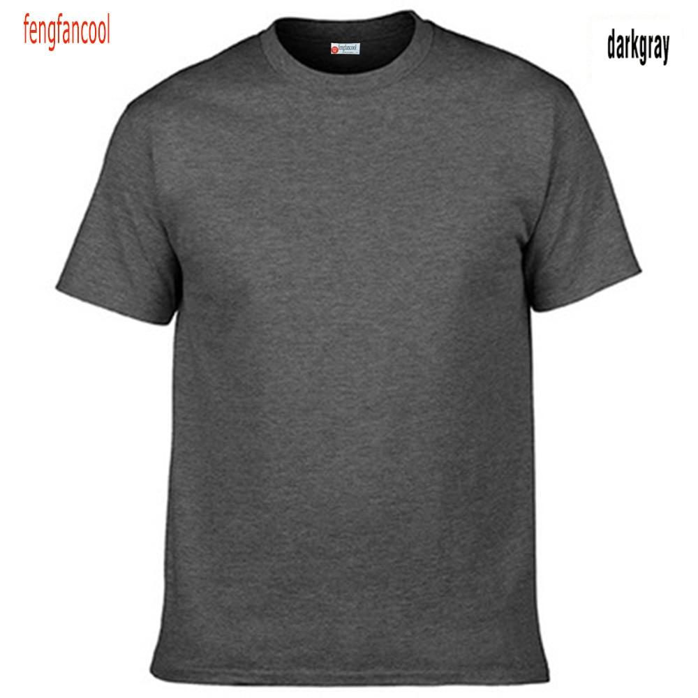 Fengfancool Marke 100% Baumwolle Männer leer T-Shirt, hochwertige - Herrenbekleidung - Foto 5