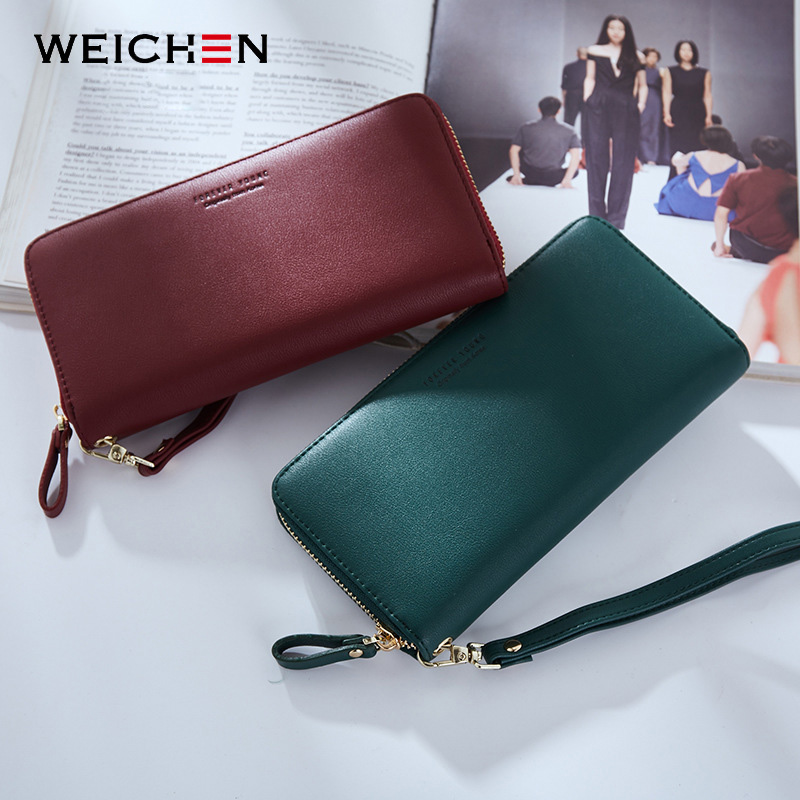 WEICHEN Wristband Women Long Clutch Wallet Large Capacity Wallets Female Purse Lady Purses Phone Pocket Card Holder Carteras 3
