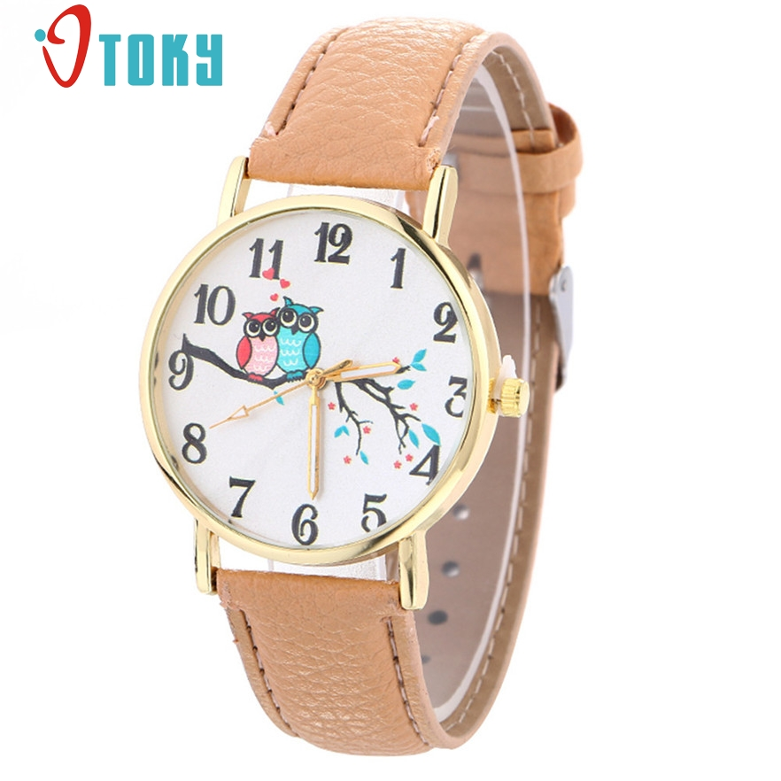 OTOKY Fashion Quartz Watch Women Casual Leather Ladies Wristwatch Female Clock Owl Relogio Feminino Montre Femme #20 Gift 1pc