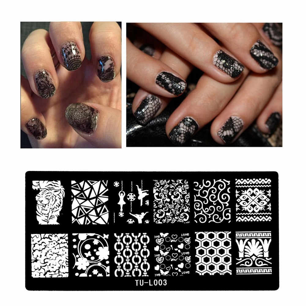 1pc 24option Pattern DIY Nail Art Image Stamp Stamping Plates Manicure Template nail polish template stamping halloween