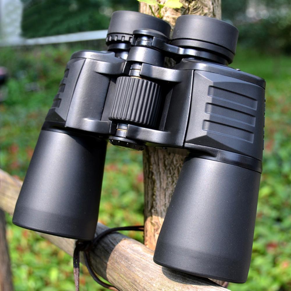 Professional Binoculars 10X50 High Power Hunting Telescope Bak4 Wide View Camping Optical Large Eyepiece Definition