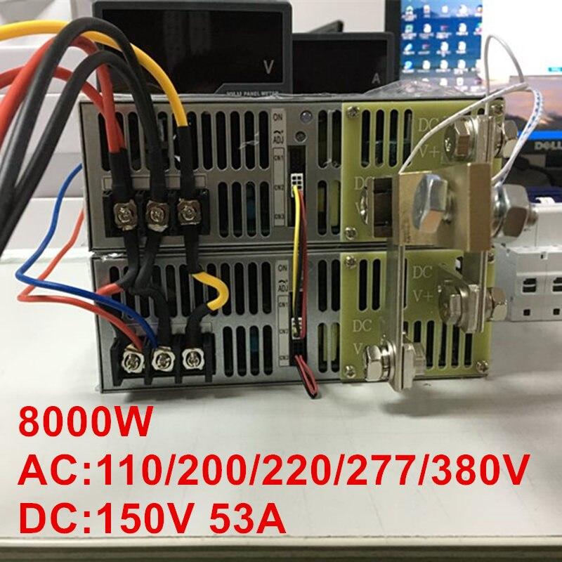 8000W 150V 53A 0-150V power supply 150V 53A AC-DC High-Power PSU 0-5V analog signal control DC150V 53A 110V 200V 220V 277VAC irfp4568pbf irfp4568 to 247 150v 171a
