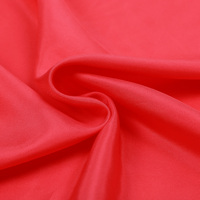 3408ea932e759 US $34.53 11% OFF Fresh watermelon red color in Europe and America advanced  silkworm silk fabric silk double Palace meager skinny cloth-in Fabric from  ...