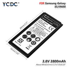 Lithium 3800mAh Li-Po Phone Battery For Samsung Galaxy S5 Battery I9600 G900H G900W8 G900F G900V G900T G900A G900R4 G870A S 5 цена и фото