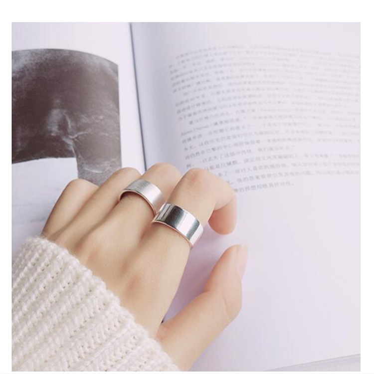 Bohemian Vintage Silver Color Shiny Punk Rings for Women Bijoux Fashion Adjustable Size Finger Rings Anillos Mujer 2