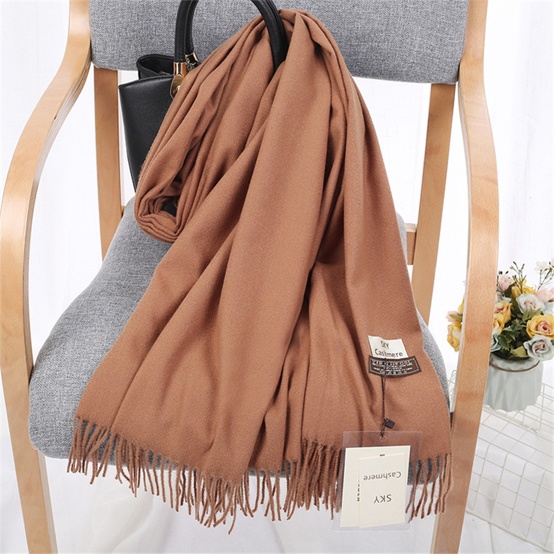 Women/Men Solid Colored Cashmere Wraps Blanket Shawl Scarf