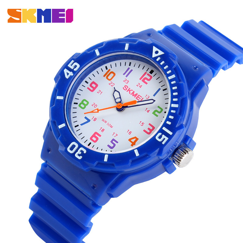 2016 New Skmei Children Watch Fashion Casual Quartz Watches Waterproof Jelly Kids Clock boys Hours Students