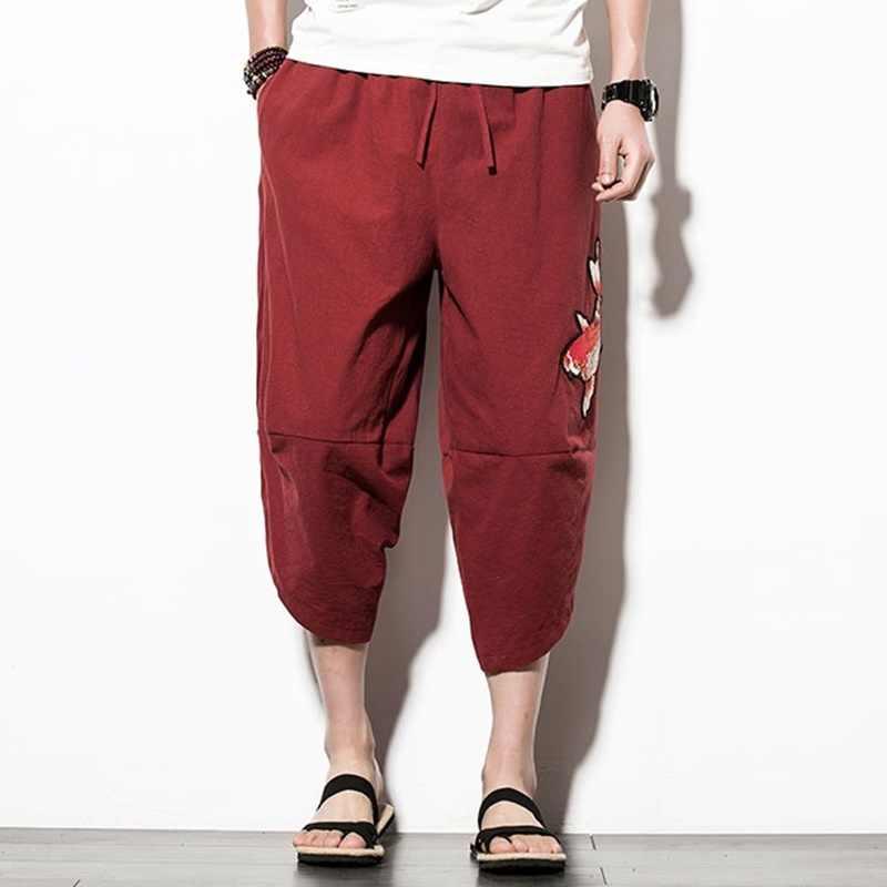Büyük Boy Kargo Pantolon Erkekler baggy hippi pantolon rahat pantolon mens sweatpants ve joggers yeni varış 2018 kargo pantolon TA001