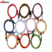 1M/2M/3M/25CM Colorful Nylon Micro USB Cable Charger Data Sync USB Cable Cord For Android Smart Phone for tablet PC