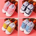 2015 Canvas Children Shoes Baby Boys girls Toddler Shoes Baby Spring Summer Trade Rubber Non-slip Bottom First Walker 0-1year