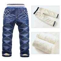 6 10Yrs Boys Fashion Pants Long Trousers For Boys Thick Warm Winter Spring Jeans Wool New