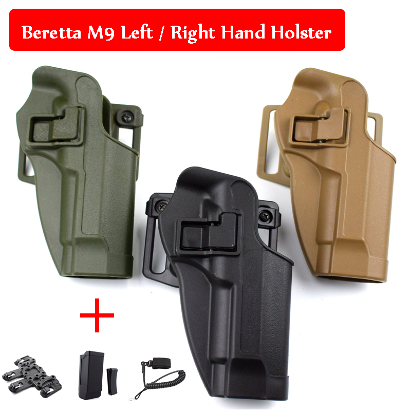 Tactical Gear Beretta M9 92 96 Gun Case Left / Right Hand Belt Holster Military Pistol Belt Holster Airsoft Hunting Equipment