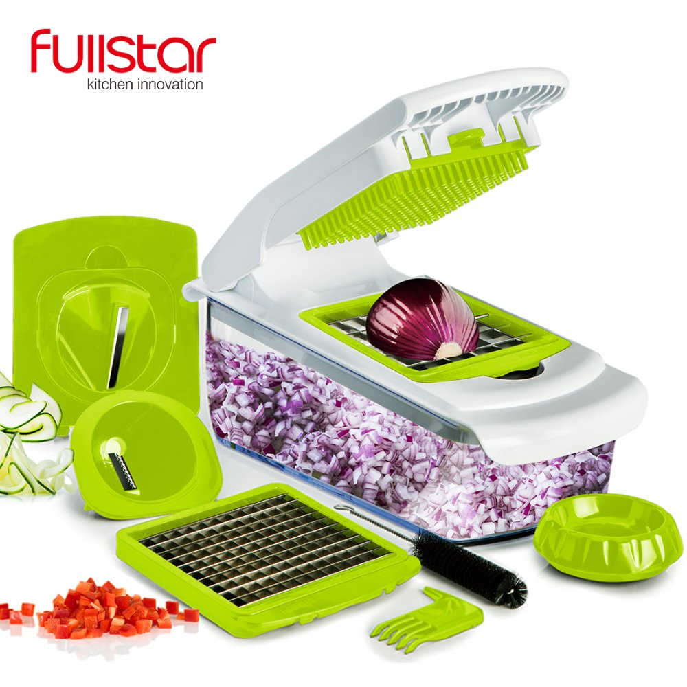 QuichPush Food Chooper Onion Chooper,Kitchen accessories Vegetable Slicer,Fruit Cheese Cutter with 4 Dicing Blades knife
