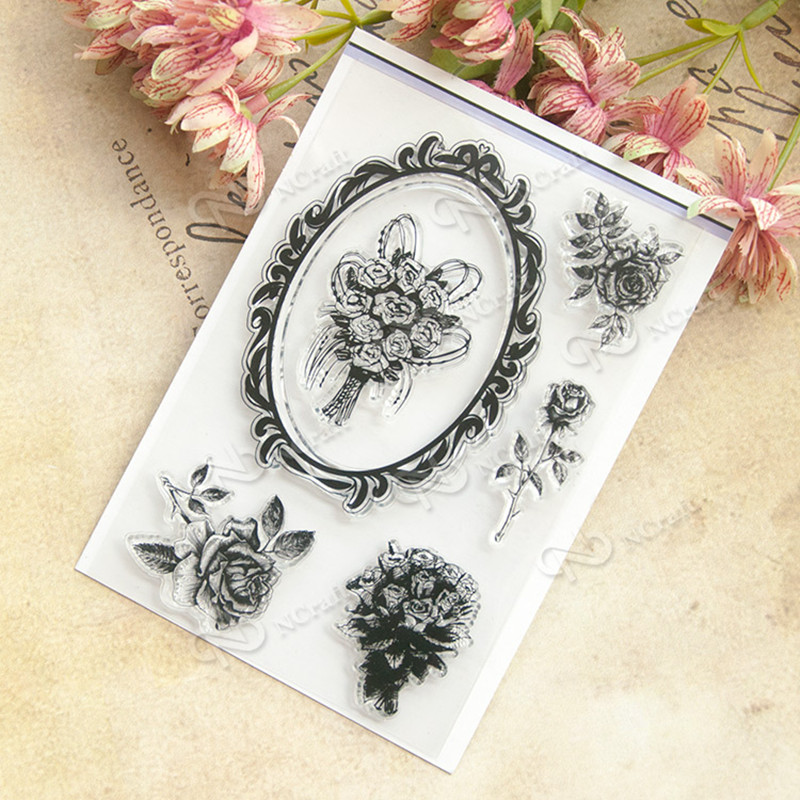 Flower Clear Stamp Scrapbook DIY photo cards rubber stamp seal stamp happy transparent silicone transparent stamp T0157 wyf1017 scrapbook diy photo album cards transparent silicone rubber clear stamp 11x16cm camera