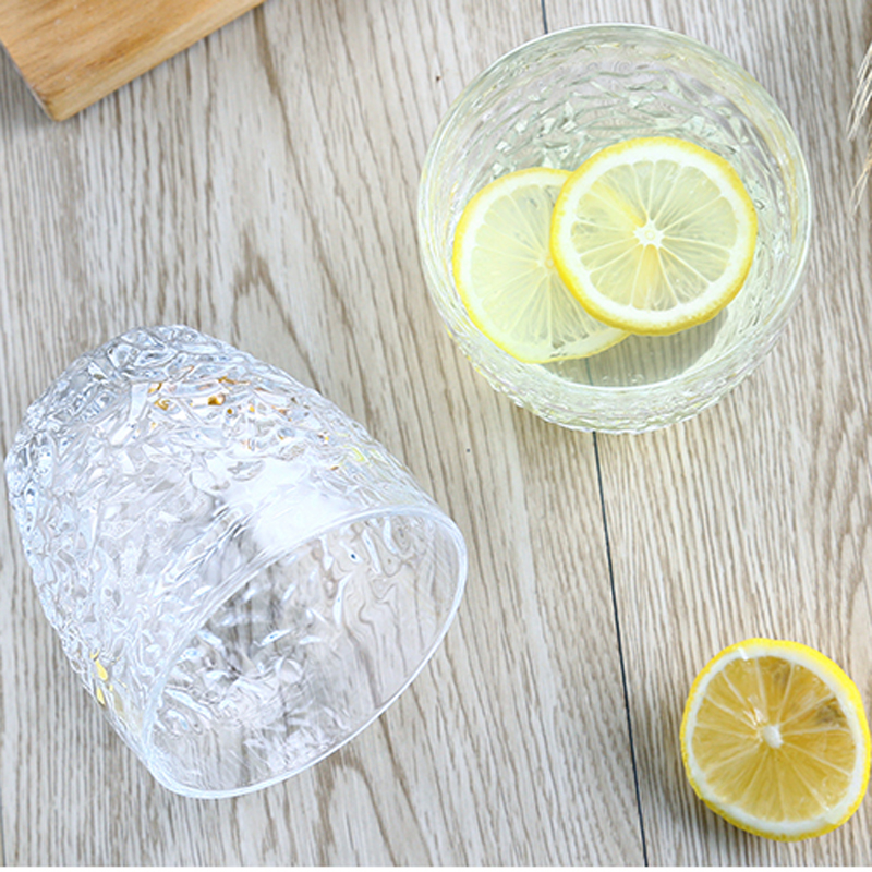 Crystal Whiskey Glass Cup 300 ml Wine Drinking Glass 6 pcs Crystal Glasses Drink for Fruit Juice Beer Tea Water Milk Hotel Bar in Transparent from Home Garden