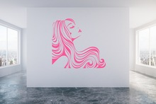 Girls Beauty Salon Wall Decal Sexy Woman Hairdresser Style Stickers Vinyl Living Room Window Art Mural Hair DIYSYY483