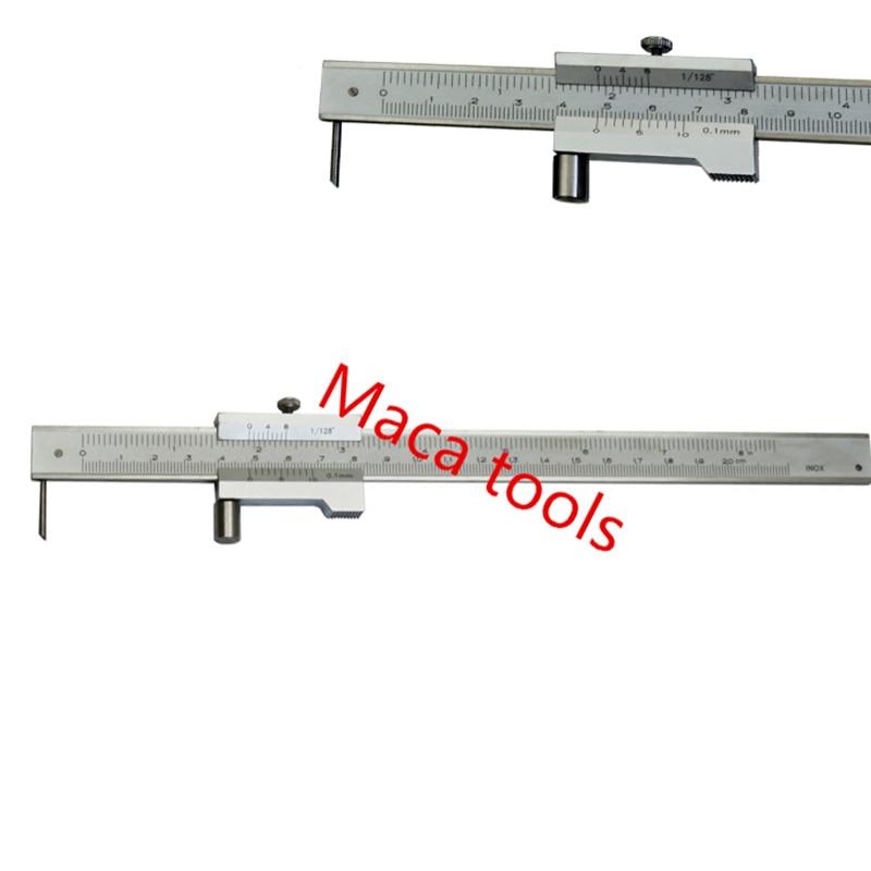Ferramenta paralela de aço inoxidável do calibre da marcação do caliper de vernier da marcação de 0-200mm vernier caliper da marcação com scriber do carboneto
