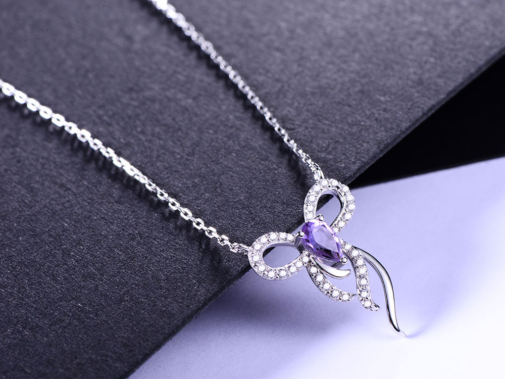 silver amethyst necklaces CAnl00382sa-1 (3)