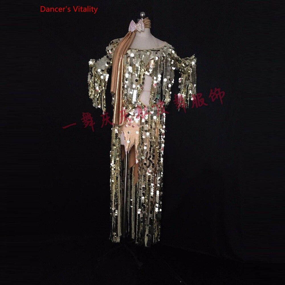 Custom Bellydance Oriental Indian Gypsy Dance Practice Belly Dance Costume Performance Diamond Sequins Clothing Dress Set