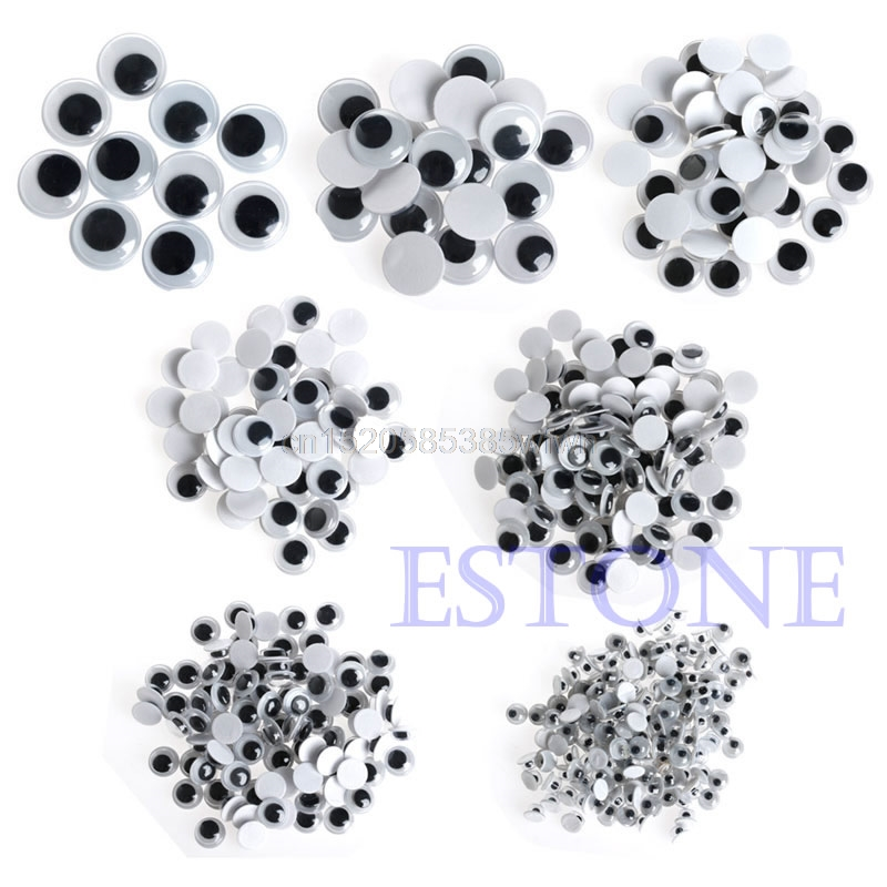 520PCS 6-20mm Wiggly Wobbly Googly Eyes Self-adhesive Scrapbooking Crafts Mixed #HC6U# Drop Shipping