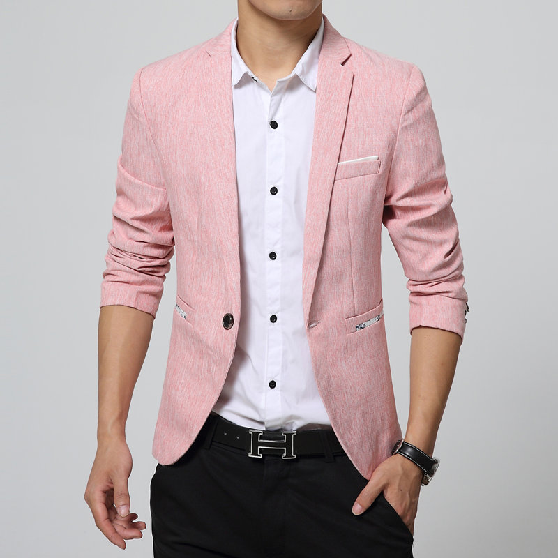 Online Buy Wholesale Men Pink Blazer From China Men Pink
