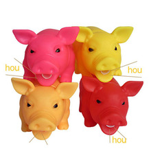 New Cleaning Teeth Dog Cat Chewing Toy Pig Squeak Cute Rubber Pet Puppy Playing Squeaker Squeaky With Sound