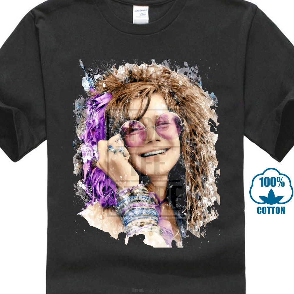 Janis Joplin Color Summer Casual Man   T     Shirt   Good Quality O-Neck Teenage   T  -  Shirt