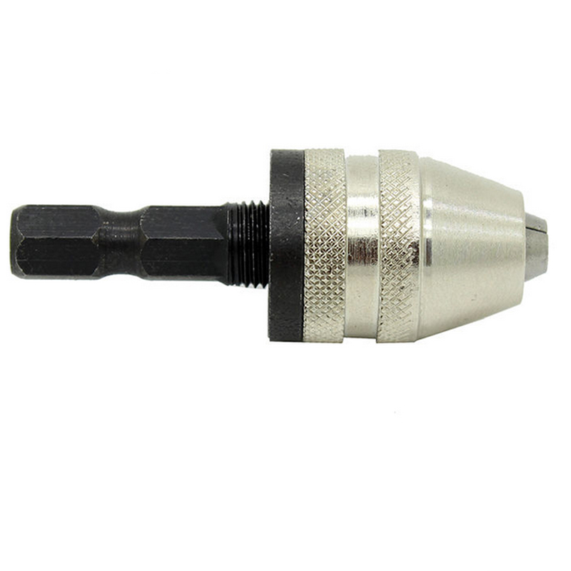 New 1/4 Inch Keyless Drill Bit Chuck Quick Change Adapter Converter Hex Shank  --M25