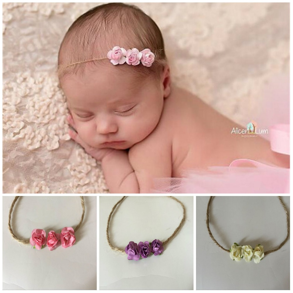 Little Baby Girl Photo Shoot Headband Props Newborn Baby Girl Birthday Picture Photography Props Accessories bebe fotografia baby girl flower angel feather wings hair headband photo shoot kawaii hair accessories for newborns head band photography props