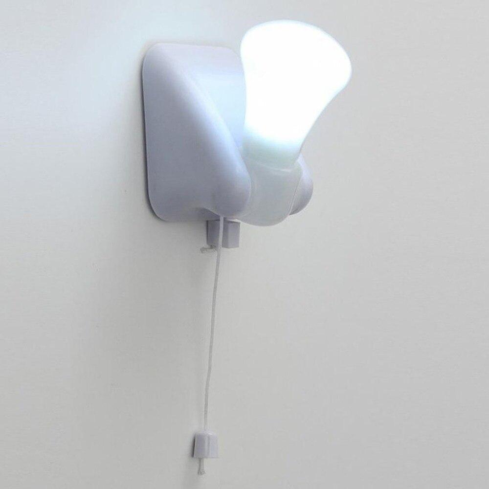 Mini Wired Light Bulb Chandelier Portable LED Pull Cord Light Bulb Outdoor Garden Camping Hanging LED Light Lamp