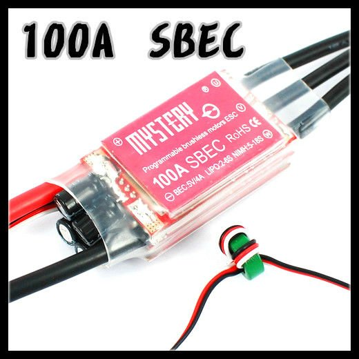 Mystery Topspeed 100A SBEC Brushless ESC Programablec Speed Controller ESC For RC Helicopter Airplane image