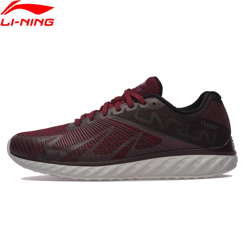 Фотография Li-Ning Men Li-Ning Cloud IV Flame Running Shoes Light Weight Cushion LiNing Sports Shoes Comfort Sneakers ARHM055 XYP585