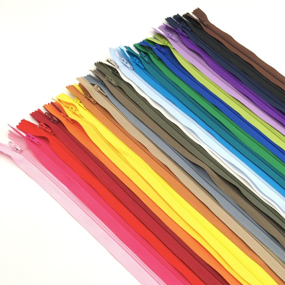 10pcs 3# 23cm 30cm 36cm 41cm 51cm Closed End Nylon Coil Zippers Tailor Sewing Craft