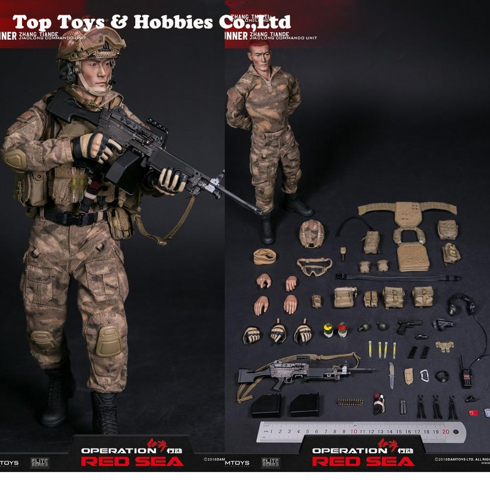 """1/6 scale figure DAMTOYS  Red Sea PLA Navy Marine Corps """"Jiaolong"""" Special Operations Brigade  SAW Gunner Zhang Tiande """"Rocky"""""""