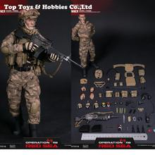 """1/6 scale figure DAMTOYS  Red Sea PLA Navy Marine Corps """"Jiaolong"""" Special Operations Brigade  SAW Gunner Zhang Tiande Rocky collagen active tiande"""