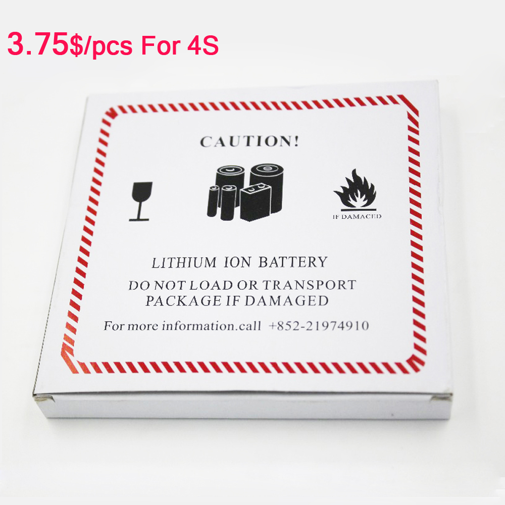 42PCS /Lot Zero Cycle Count Battery Replacement For iPhone 4s 5s 6s 7 Plus Batteries 1430mAh Capacity Phone Battery For iphone4s