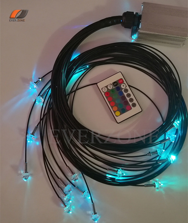 5w LED Light Source 2mm Optic Fiber Lighting Star Sky Ceiling 40pcs Length 0 5m 1m