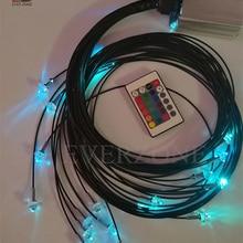 5 Вт Светодиодный светильник источник 2 мм оптоволоконный светильник ing Star Sky потолочный 40 шт. Длина 0,5 м+ 1 м+ 1,5 м+ 2 м с 5 шт. хрустальными концевыми фитингами