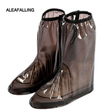Aleafalling Collapsible Portable Waterproof Shoes Cover Thicken Casual Rainboots Antiskid Wear-resistant Plastic BootSC007