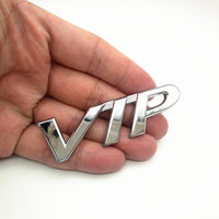 diy car 3D VIP MOTORS Logo Metal Car Chrome Emblem Badge Decal Door Window Body Auto Decor DIY Sticker Car Decoration Styling (2)