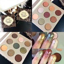 9 Colors Makeup Eyeshadow Palette Shimmer Matte Glitter Pigment Smoky Nud Cosmetics Eye