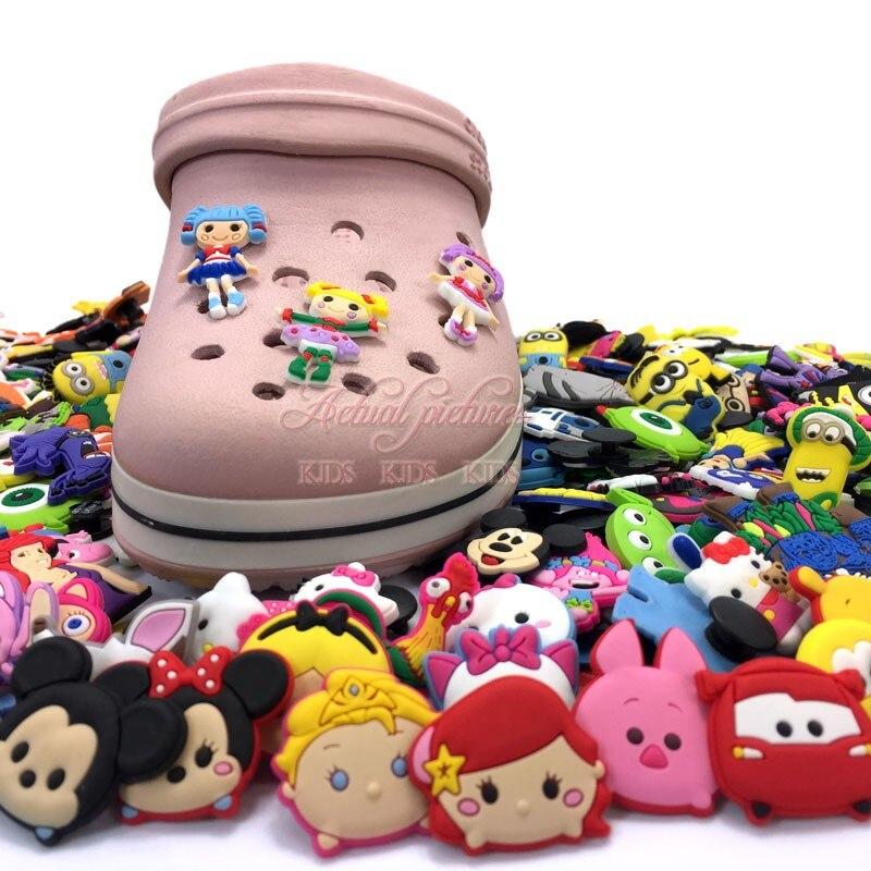 Neue Ankunft 3 Teile/satz Lalaloopsy Pvc-schuh Bezaubert Schuhschnallen Zubehör Fit Bänder Armbänder Croc Jibz Kinder Party Geschenke