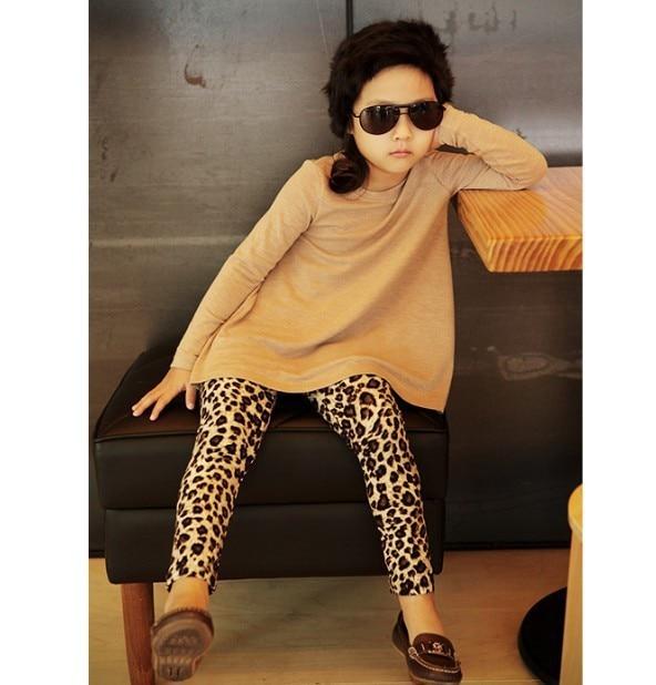 15259a55e5334 Fashion 1Pcs Baby Girls Pants Leopard Print Fall Winter Children Kids  Leggings Trousers For 1-5yrs