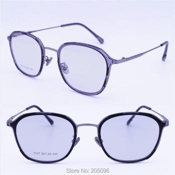 fc63edc2d7ce 9127 nickel copper alloy rounded square combined with TR90 decoration  double rim full-rim tendy