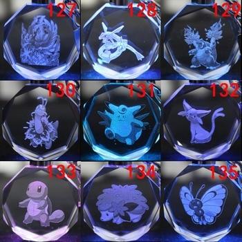 Аниме брелок светодиодный кристалл Покемоны в ассортименте